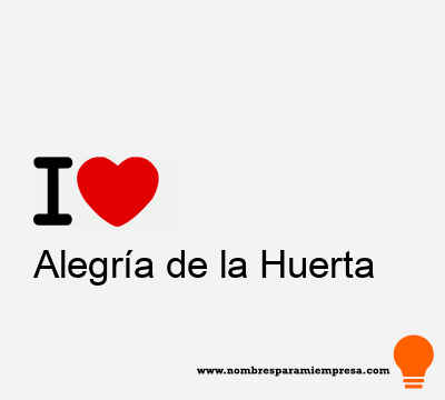 Alegría de la Huerta