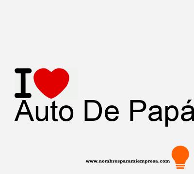 Auto De Papá