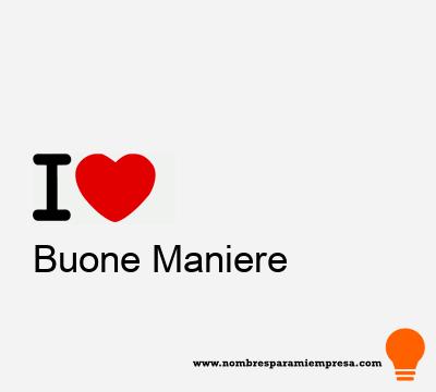 Buone Maniere