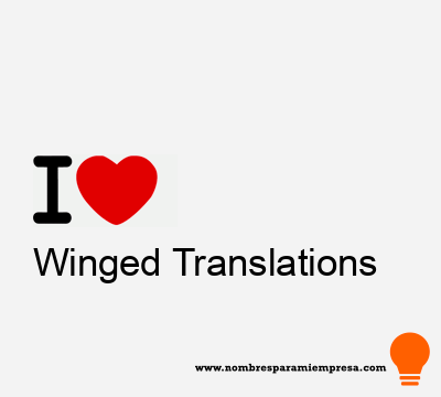 Winged Translations